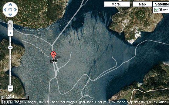 Itoizko urtegirik ez dago TomTom eta Google Maps-en kartografian