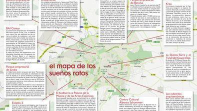 Gasteiz, bidean geratutako proiektu urbanistikoak