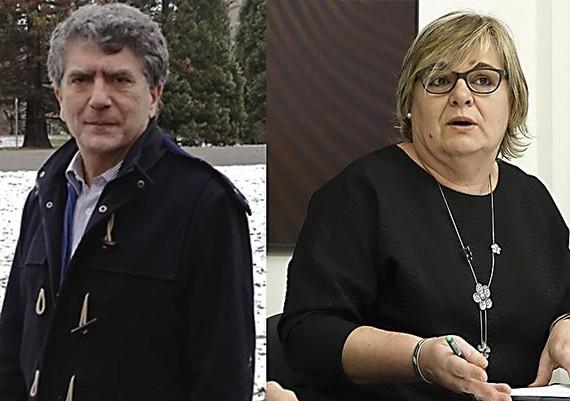 Miriam Urkia eta Roberto Gonzalez de Viñaspre, euskaltzain oso