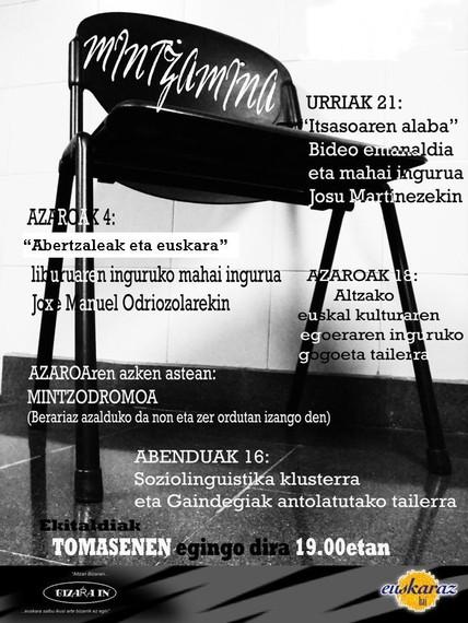 """Albistea: """"Mintzamina"""" solasaldi-sorta, Altzan1"""