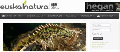 EuskalNatura taldearen webgune berria martxan
