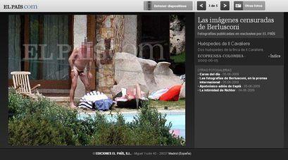 Berlusconi eta Txekiako lehen ministro ohia, 'maitasunaren etxeko' argazkietan