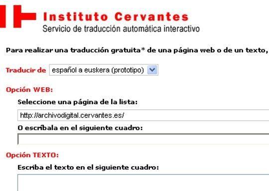 Cervantes Institutuaren itzultzaile automatikoak euskara gehitu du bere zerbitzuetara