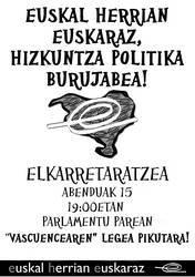 Hizkuntza Politika Burujabea aldarrikatuko du EHEk Iruñean