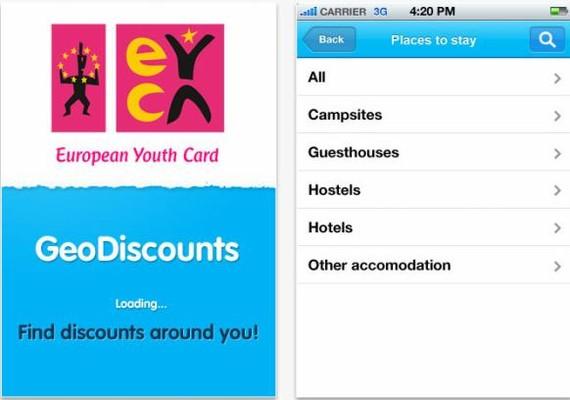 Gazte-txartelaren iPhone-erako GeoDiscounts aplikazio berria