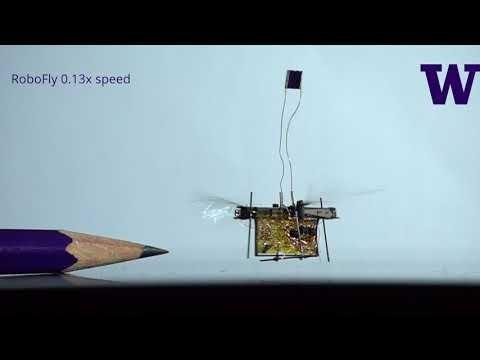 RoboFly, intsektu baten neurriko lehenengo robot hegalaria