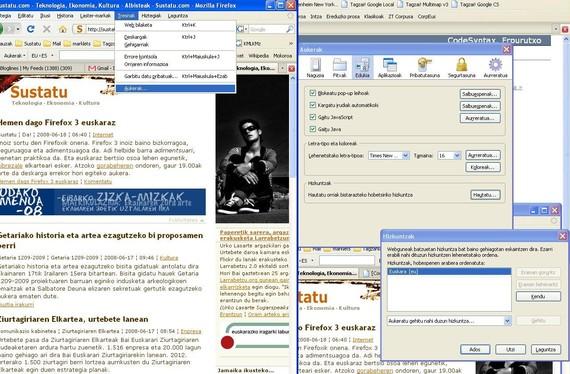 Hemen dago Firefox 3 euskaraz
