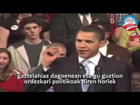 """Obamak ere bat egin du """"Ez, we can´t"""" kanpainarekin #EuskarazBiziNahiDut"""