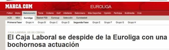 """Irabazita sailkatu da Baskonia, Marcak """"lotsagarri"""" galdu zuela esan arren"""