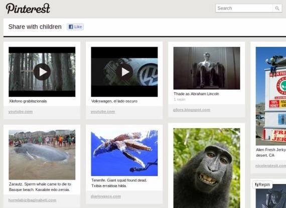 Pinterest, irudi interesgarriak gorde eta partekatzeko