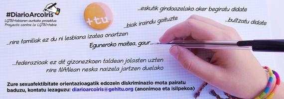 Ortzadar Egunerokoa: eraso LGTBfobikoak salatzeko ekimena