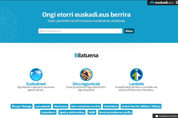 Eusko Jaurlaritzaren ataria, Euskadi.eus, eraberrituta
