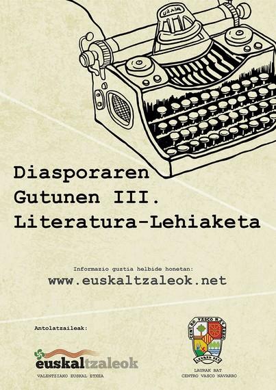 Diasporaren Gutunen III. Literatura Lehiaketa