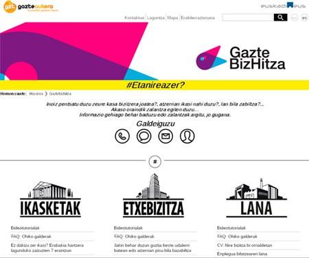 GazteBizHitza: Ikasketak, Lana eta Etxebizitza atari bakarrean