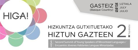 Hizkuntza gutxituetako hiztun gazteen 2. topaketa Gasteizen