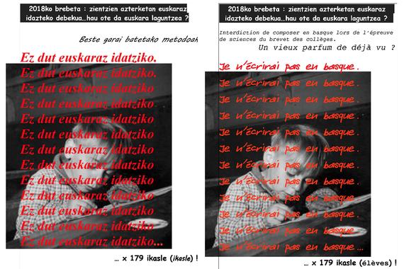 179 ikasleren zientzietako euskarazko brebet azterketak zuzendu gabe bahitu dituzte