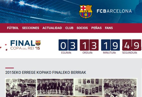 FC Barcelonak euskaraz ere informatzen du Kopako finalaz
