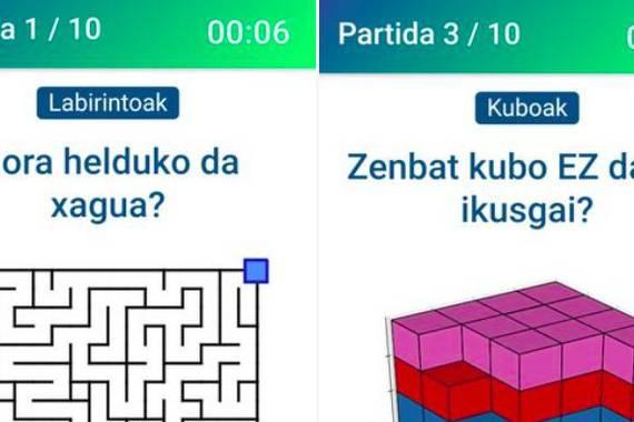 Galdera berriak: labirintioak eta 3D kuboak