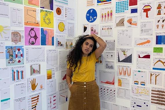 Mona Chalabi kazetariaren grafiko informatibo zoragarriak