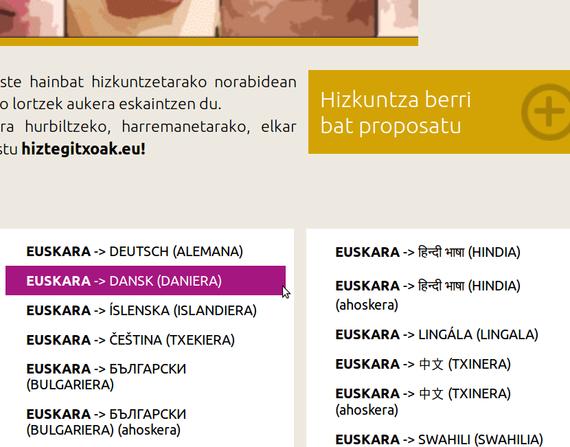 Hiztegitxoak, hainbat hizkuntzatan, PDF erabilgarriak