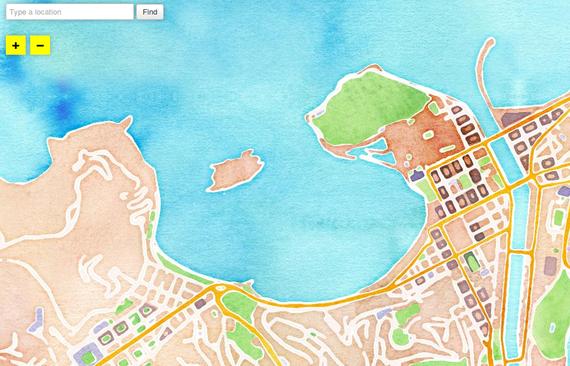 OpenStreetMap-en oinarritutako akuarela mapak eta beste zenbait datu-berrerabilpen