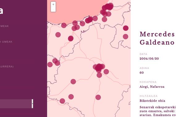 Hilketa matxisten mapa