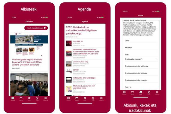 Eibarko Udalaren informazio zuzena app bidez