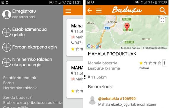 Baduzu aplikazioa: jakizu euskaraz non kontsumitu