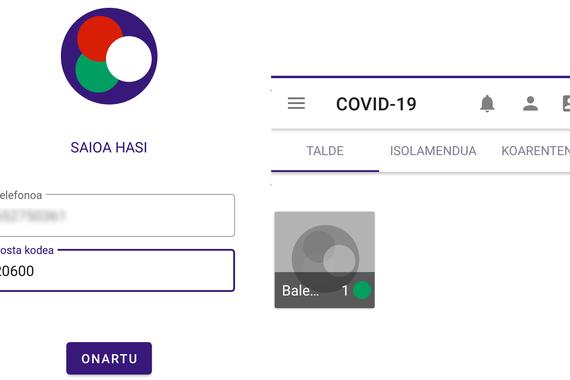 COVID-19.eus aplikazioa frogatu dugu
