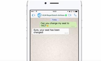 KLM hasi da Whatsapp Business erabiltzen