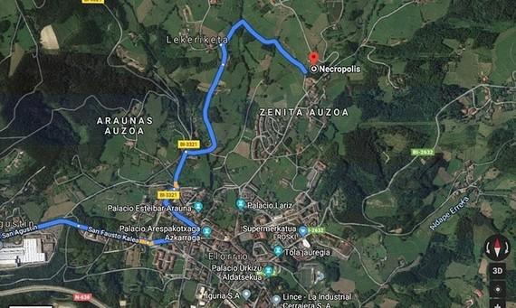 Google Maps autoan erabilita Euskal Herrian galtzeko aukera dokumentatuak