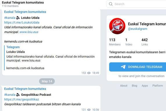 Telegrameko euskal kanal irekietara sartzeko, aurrebista praktiko bat
