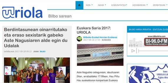 Bilboko Euskara Saria 2017: Uriola.eus