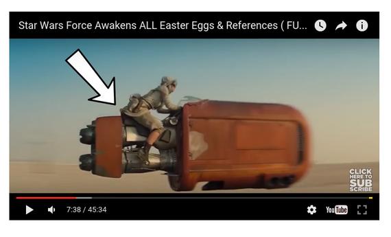 """""""Star Wars VII"""" filmeko erreferrentziak eta """"pazko arrautzak"""" [BIDEOA]"""