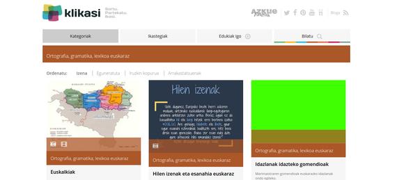 Klikasi, hezkuntza partekatzeko plataforma