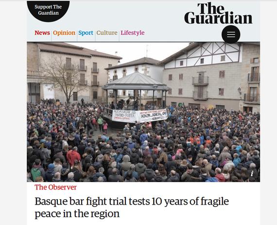 """""""Basque bar fight"""", The Guardianen artikulua Altsasuko kasuaz"""