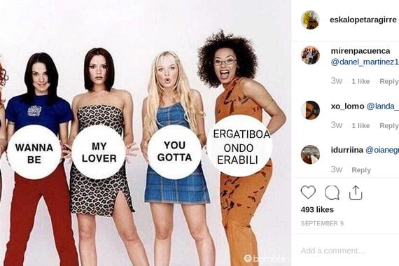Memegile euskaldun batzuk Instagramen