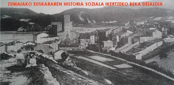 Zumaiako euskararen historia soziala ikertzeko beka deialdia