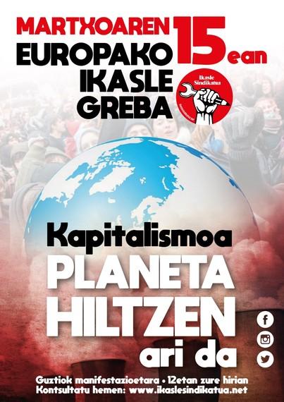 Martxoak 15: klima-aldaketaren aurkako ikasle greba orokorra Europan