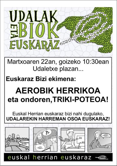 Zarautzen, larunbatean, Aerobik Herrikoia!