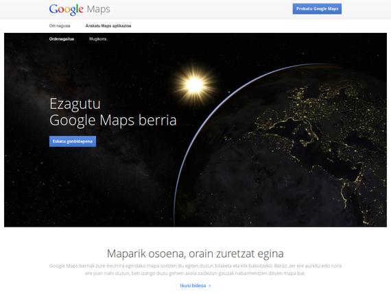 """""""Google-en produktu berrien promoak euskaraz ikusteak ez dauka preziorik"""""""
