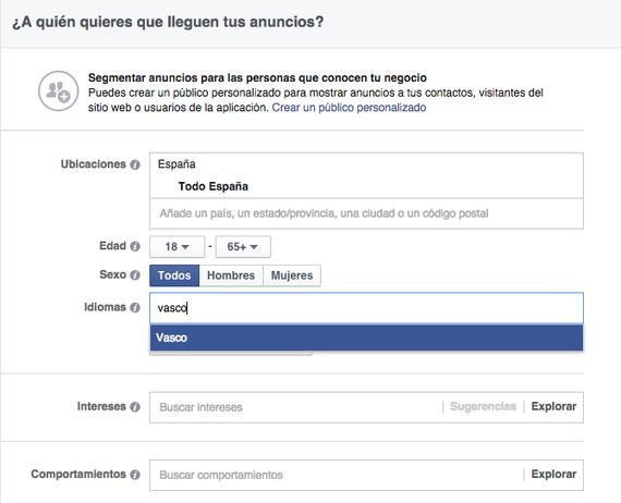 'Target' euskalduna hautatu Facebook-eko orri bateko mezuak zabaltzean