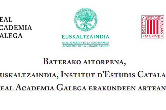 Euskaltzaindiaren eta beste akademien eskaera Espainiako gobernuari