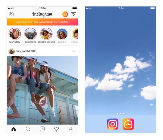 Instagramek IGTV aplikazioa aurkeztu du, bideoak sareratzeko APPa