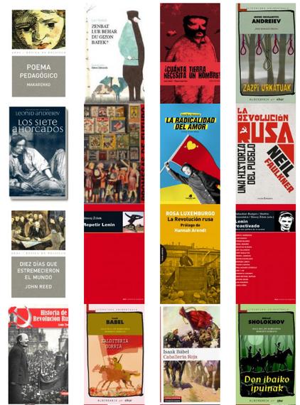 Errusiako iraultzak 100 ute bete ditu: 44 liburu Sobietar mendeaz