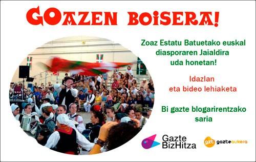 Abian da GOazen Boisera!, blogari gazteentzako lehiaketa