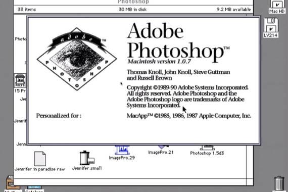 Photoshop programak 30 urte bete ditu
