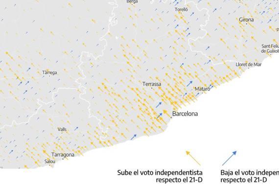 Gezien mapak, hauteskunde analisirako tresna berria Katalunian
