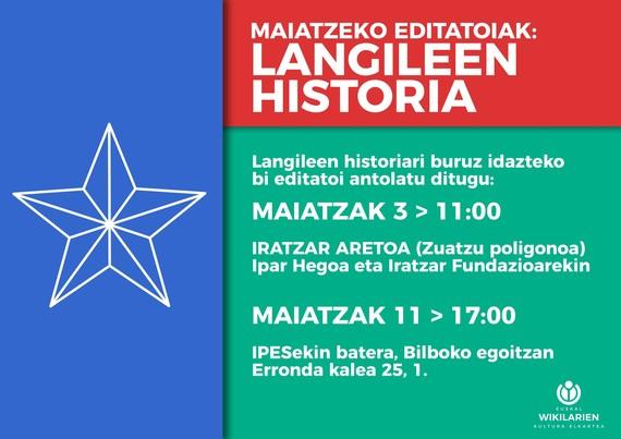 Langileen historiaren hilabetea euskarazko Wikipedian