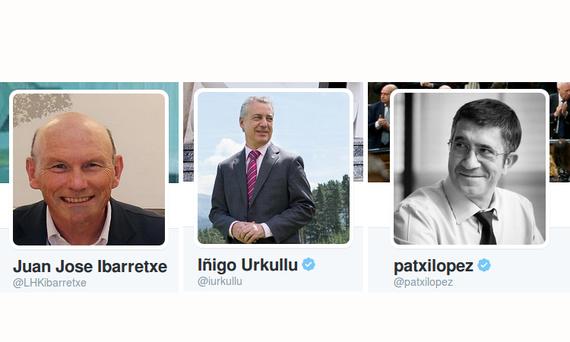 Lehendakarien profilak Twitterren collage